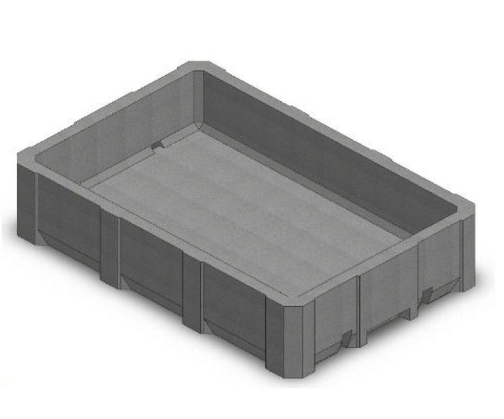 caja de pescado de poliestireno